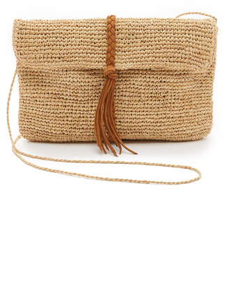 Hat Attack Raffia Clutch with Braid $95 thestylecure.com