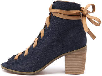 Top end Grollat Dark denim-tan Shoes Womens Shoes Casual Heeled Shoes