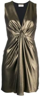 Saint Laurent draped v-neck dress