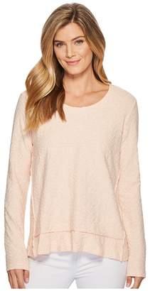 Mod-o-doc Forward Seam Pullover Jacquard Sweater Knit Women's Sweater