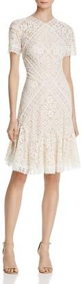 Tadashi Shoji Lace Flared Cocktail Dress $408 thestylecure.com