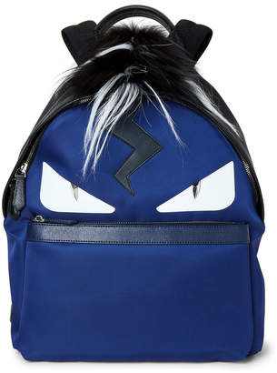 Fendi Navy Monster Real Fur Backpack