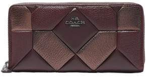 Coach Quilted Textured-Leather Wallet