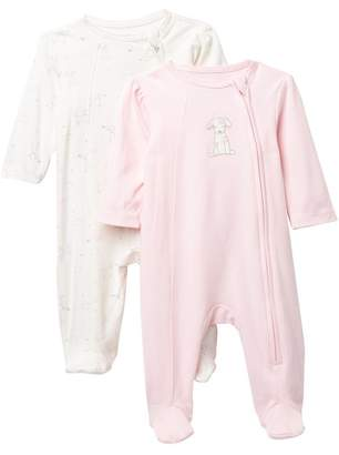 Little Me Puppy Footies - Pack of 2 (Baby Girls)