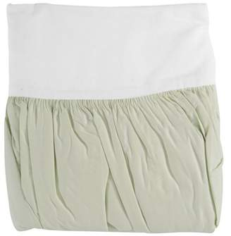 TL Care Inc TL Care 100% Cotton Percale Light Green Crib Bed Skirt Pack