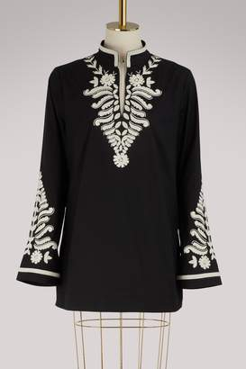 Tory Burch Cotton embroidered blouse