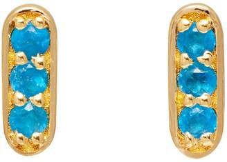 Lola Rose London - Curio Mini Bar Stud Earrings Neon Apatite