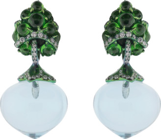 Arunashi Flower Fruit Earrings