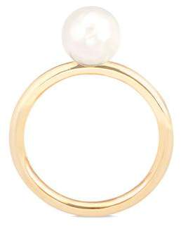 Aspinal of London 8mm White Japanese Akoya Pearl Ring