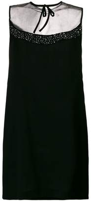 Miu Miu rhinestone embellishment shift dress
