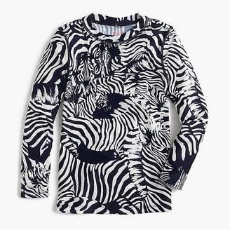 J.Crew Girls' rash guard in Ratti® zebra print