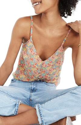 Madewell Floral Button Down Silk Camisole