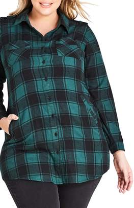 City Chic Check Lover Tunic