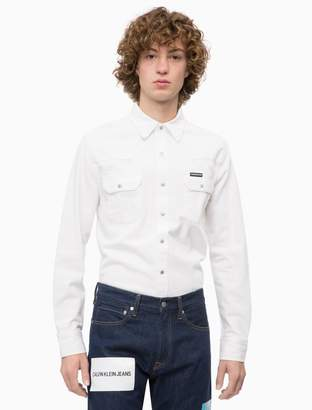 Calvin Klein slim fit archive western shirt