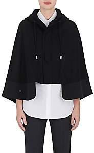 The RERACS Women's Wool Melton Short Hooded Cape-Black