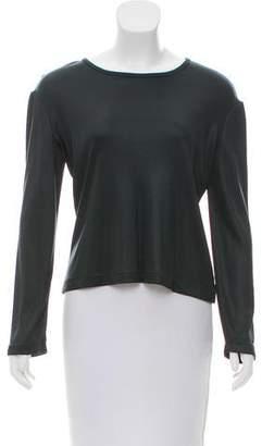 Calvin Klein Collection Long Sleeve Crew Neck Top