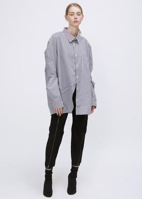 Vetements navy/white stripe comme des garçons packshot shirt $975 thestylecure.com