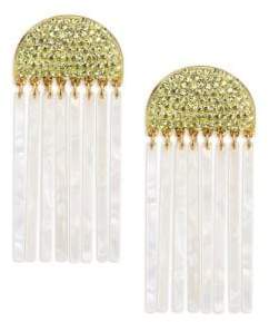 Confetti Crystal Comb Earrings
