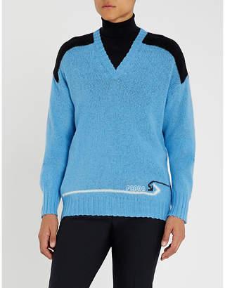 Prada Shetland two-tone wool jumper