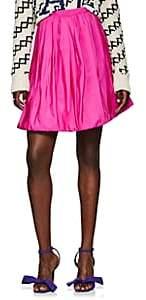 Calvin Klein Women's Silk Bubble Miniskirt-Pink