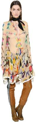 Chloé Printed Silk Chiffon Dress