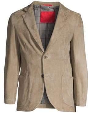 Isaia Suede Blazer Jacket