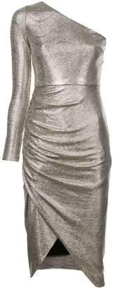 Aidan Mattox one-shoulder fitted dress