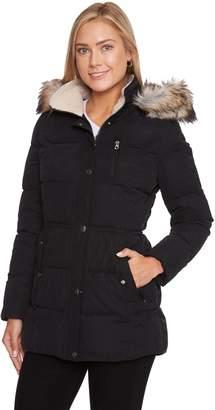 Women's Halitech Faux-Fur Hooded Anorak Microfiber Parka