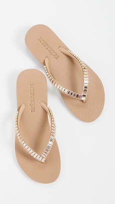 Mystique Jeweled Flip Flops