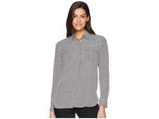 Lauren Ralph Lauren Crepe Button Down Shirt