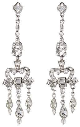 Ben-Amun Pave & Bezel Set Crystal Deco Chandelier Drop Earrings