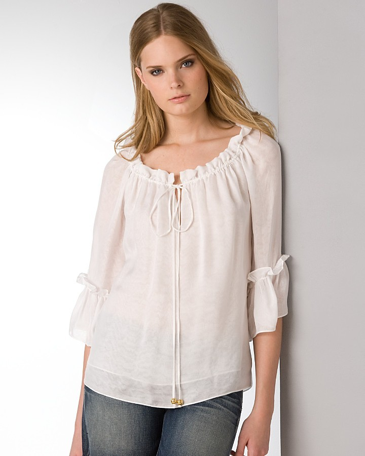 Milly Silk Peasant Blouse