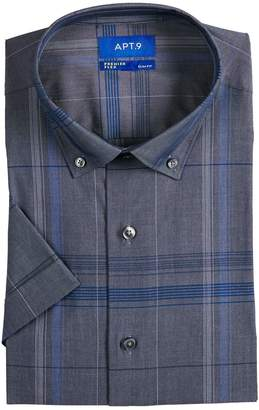 Apt. 9 Men's Slim-Fit Stretch Button-Down Collar Short-Sleeved Dress Shirt