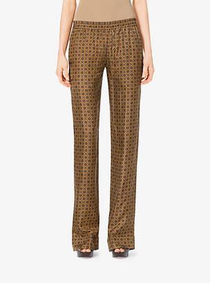 Michael Kors Foulard Silk-Twill Pajama Trousers