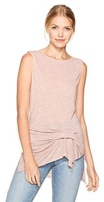 Michael Stars Women's Brooklyn Jersey Boatneck Tank with Pleat