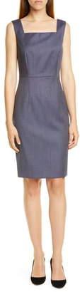 BOSS Digela Blurred Minidessin Sheath Dress