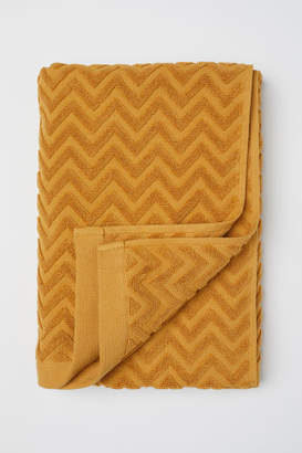 H&M Jacquard-patterned Bath Towel - Yellow