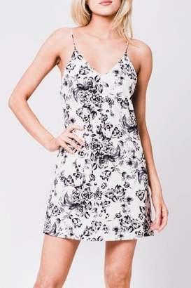 En Creme Floral Slip Dress