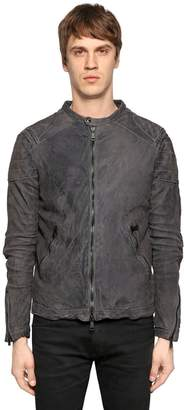 Giorgio Brato Washed Reversed Leather Jacket