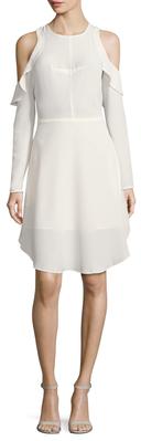 Cold Shoulder Flared Dress $278 thestylecure.com