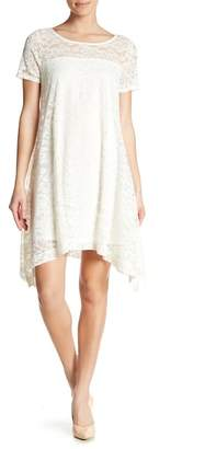 Robbie Bee Floral Lace Short Sleeve Dress
