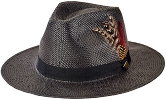 1380546ed1d171 San Diego Hat Co. Men's Fedora Hat with Feathers