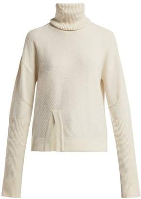 Falke Audrey Roll Neck Wool Blend Sweater - Womens - Cream