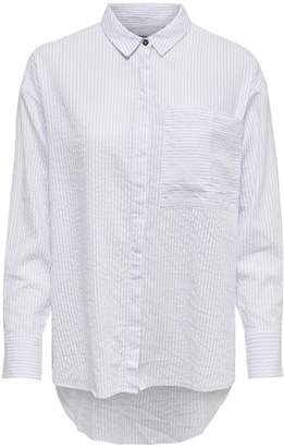 Only Striped Button-Down Shirt