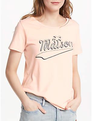 Maison Scotch 'Maison' T-Shirt, Peach