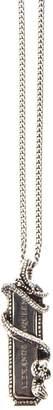 Alexander McQueen Snake Silver Brass Necklace