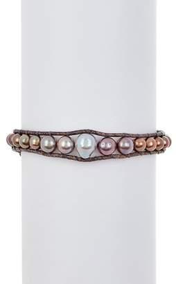 Chan Luu Sterling Silver Grey Pearl Bracelet