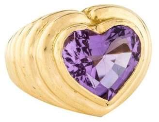 Ring 18K Amethyst Heart Cocktail