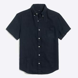 J.Crew Factory Slim-fit short-sleeve linen shirt