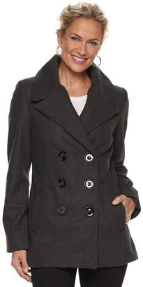 Larry Levine Women's Carrie Double-Breasted Peacoat